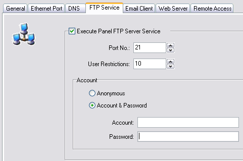 P a g e 10 File Transfer Protocol (FTP) Service Like the Remote Access feature, the FTP Service is available for use with all C-more panels that have an Ethernet port.