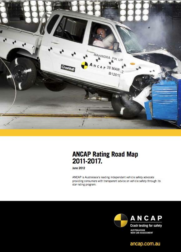 ANCAP ROAD MAP Raises the bar for each star rating - including minimum requirements for pedestrian, whiplash & roof strength
