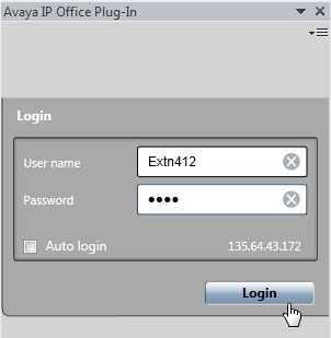 Avaya IP Office Plug-in for Microsoft Outlook : Installing Avaya IP Office Plug-in 12.3 Logging in You can log in to one-x Portal for IP Office using Avaya IP Office Plug-in.