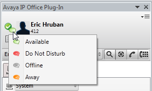 4. Click Login. Avaya IP Office Plug-in main screen is displayed with the list of system contacts.