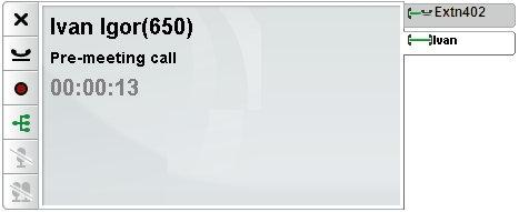 3.1 Call Details The lower part of the calls gadget displays call details. Call Tabs The call tabs on the right show a tab for the current connected call and one for each held and alerting call.