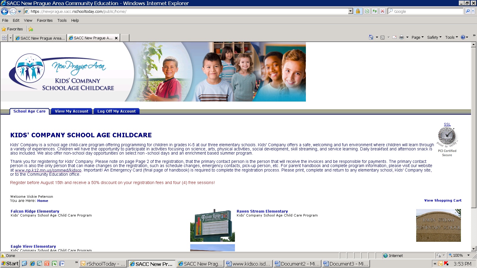 NEW! Online Registration for Kids Company www.np.k12.mn.