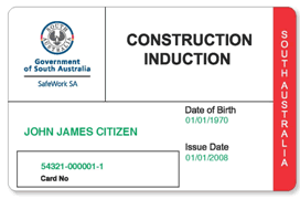 South Australia White cards are issued by SafeWork SA and are recognised in WA. White cards are uniquely numbered and carry the SafeWork SA logo.