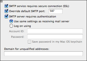 click the small box on the top left hand corner to exit To set Sending mail options: click Click here for advanced sending options button click next to SMTP service requires secure connection (SSL)