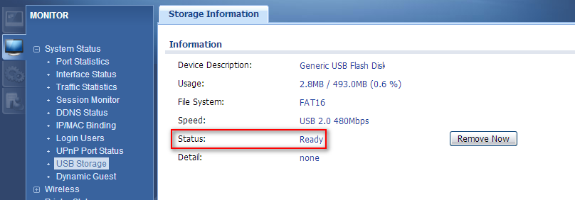 USB storage devices with FAT16, FAT32, EXT2, or EXT3 file systems are supported for connection to the USB port of UAG.