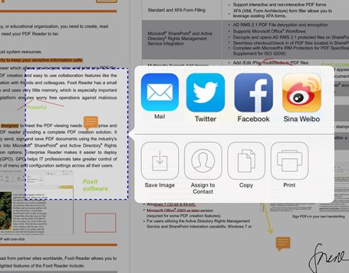 Chapter 12 More Features Foxit MobilePDF Business Brightness: Tap,choose Brightness, and then drag the slider to adjust the brightness of the screen as needed.