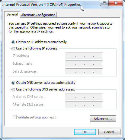 3. To obtain the IPv4 IP settings automatically, tick Obtain an IP address automatically.
