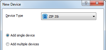 7 Adding a Device Once a ZIP 3xi Device Profile has been created, one or more phones may be provisioned on the MX system. To add a ZIP 3xi Device (phone) in MX Administrator: 1.