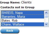 Default Groups are groups that are created on all e-agents accounts, they cannot be deleted & their titles cannot be modified. Click the icon for Group Contacts.
