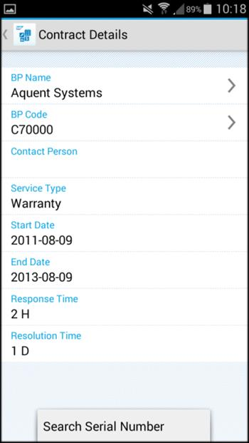 Key features Service contracts and service calls Service contracts View details of and search for service contracts Enter the item s serial number or keywords to search for and view customer
