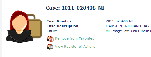 Introduction to TrueFiling 7. Click on the Case Number associated with the case you were searching to open the Case Detail page. You will now see some details about the case. 8.