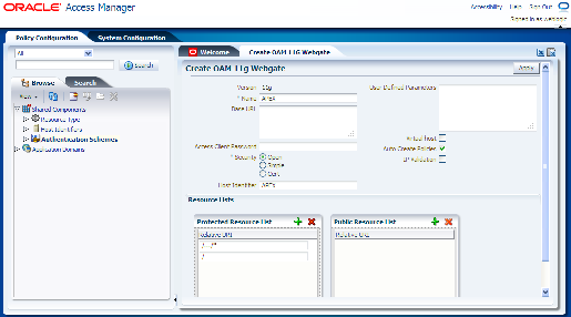 If you are an Access Manager Administrator you can register the new Webgate agent with Oracle Access Manager by using the Oracle Access Manager Administration Console.