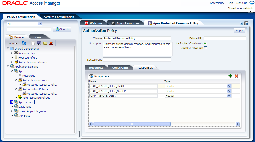 Figure 7. Defining Responses Once you create the Webgate agent then artifacts will be generated into a specific location on the Oracle Access Manager server.