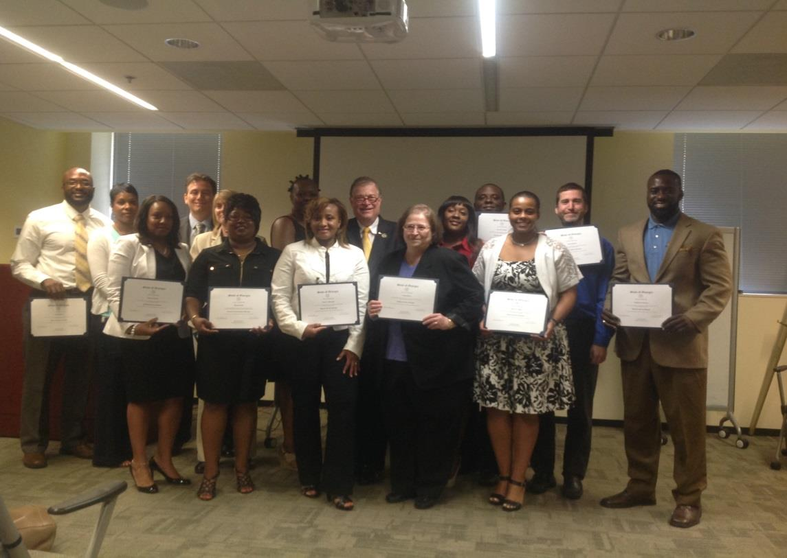 Participant Progress July 30, 2014 marked a significant milestone for the certification program. The first group of participants was awarded their certifications.