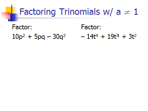 Conclusion Ways to Factor Polynomial 1. By Greatest Common Factor (GCF) 2. By Grouping 3.