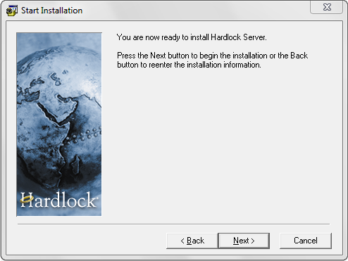 Step 4 Select a Destination Folder The next step is to choose where you would like to install the Hardlock Server software.