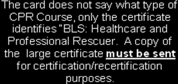 ACCEPTABLE CPR CERTIFICATIONS National Safety Council BLS