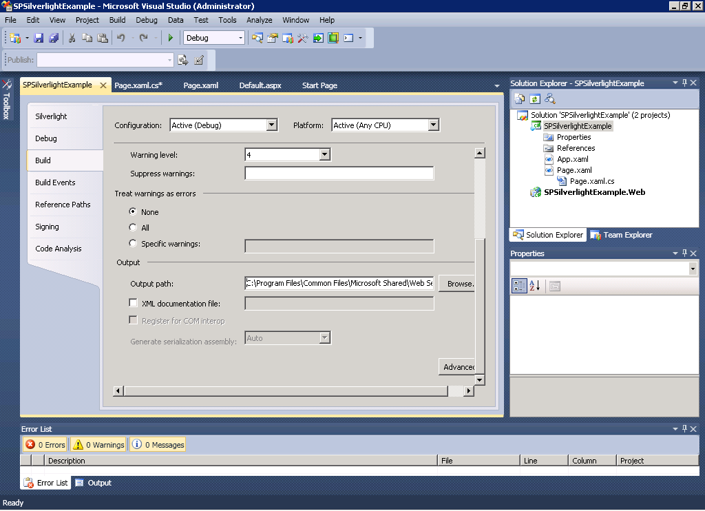 Task 3: Deploy and Test using the SharePoint Silverlight web part. To deploy the solution to SharePoint the resulting.