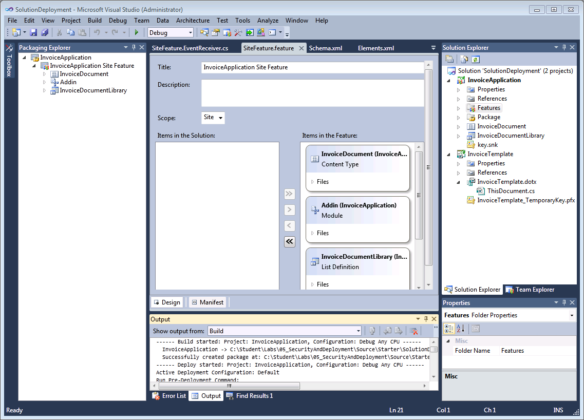 Visual Studio 2010 Office Development Visual Studio highlights Visual design tools Office 2007 and 2010 project templates Multiple add-ins with post deployment actions SharePoint project templates