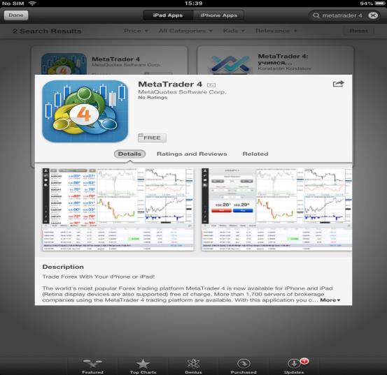 Downloading Meta Trader 4 Application In order to offer the complete trading experience to all clients, DMM FX Australia allows you to access MetaTrader 4 from your ipad, removing all barriers when