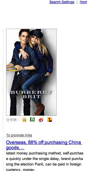 Product 3: Baidu Brand Zone This successful campaign from Burberry includes shows logos, videos, animated gifs,
