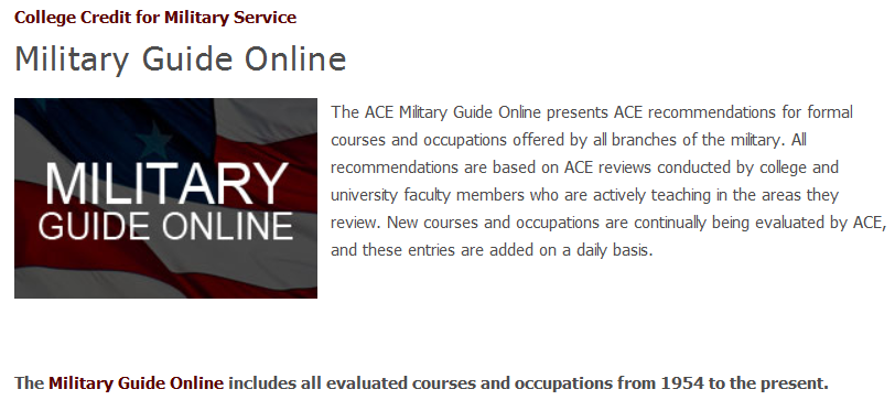 ACE Military Guide Online www.