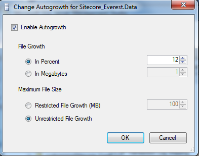 DMS Performance Tuning Guide for SQL Server The dialog box should look like this: 2.5.