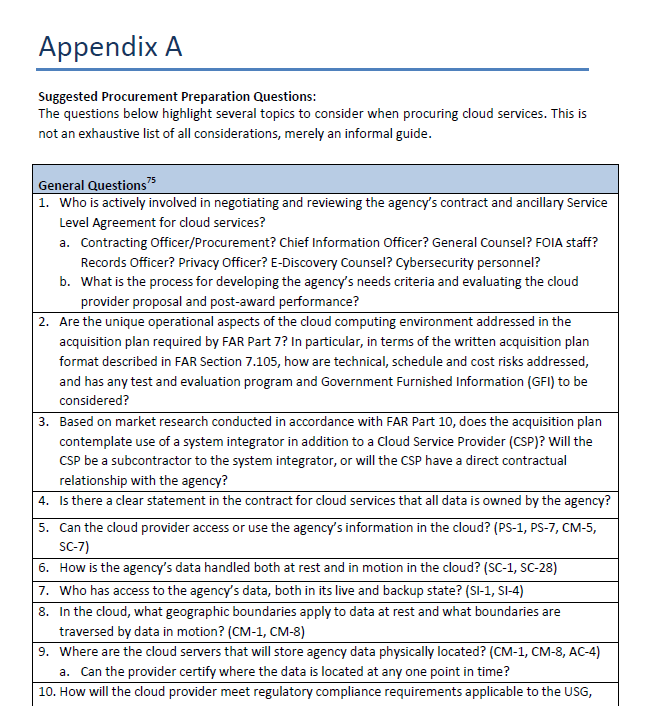 Appendix A: Questionnaire Overview Translates the paper to tactical questions to ask when reviewing or