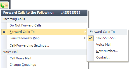 Chapter 16: Call Forwarding and Voice Mail Office Communicator 2007 R2 provides call handling options that enable you to forward calls to another phone number or contact, to ring an additional number
