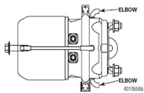 Brake Chambers Ensure the bottommost housing plug is removed Failure to remove a plug from the nonpressure housing will cause a slow releasing, dragging brake For