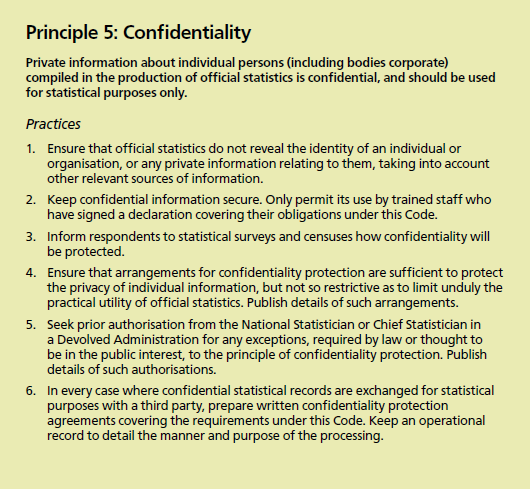 Annex 4: Confidentiality Code of Practice for Official Statistics The Scottish Government fully comply with the Code of Practice for Official Statistics.