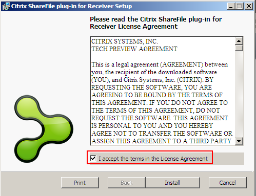 Exercise 2: Installing Receiver with ShareFile for Windows Overview In this exercise we will go through the process of installing Receiver with ShareFile for Windows and see how easy it is to