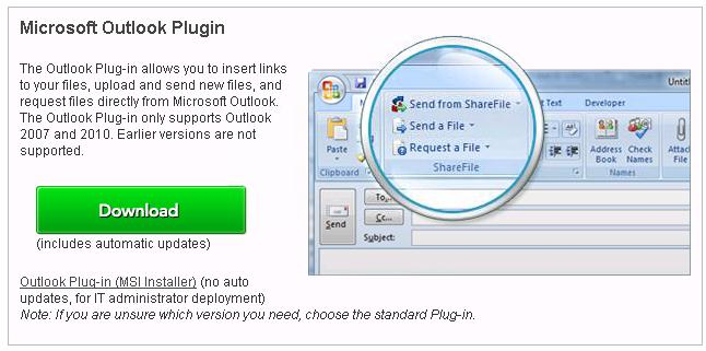 Citrix Action Virtual Classroom Step 4. Scroll down to the Microsoft Outlook Plugin and click the Download button. 5.
