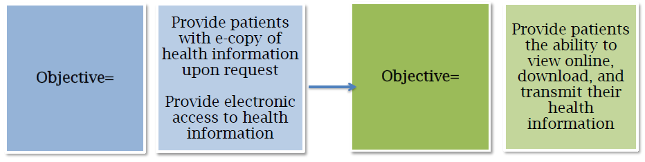 On-line Access & e-copy: Patient Engagement Measure of the New Objective: 50% of patients are provided access to their