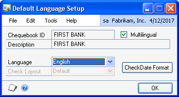 CHAPTER 1 SETUP AND CARDS 11. Choose Delete to delete the currency terminologies set up for a language.