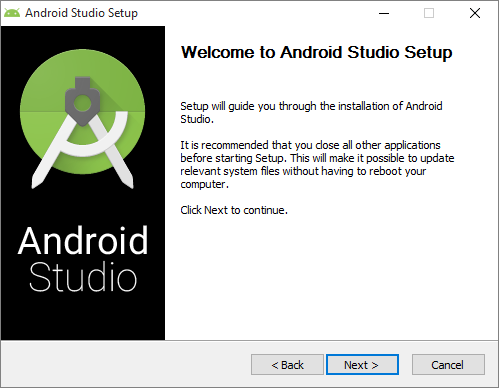 Installation Download and Install Android Studio Just keep