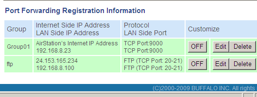 Setting up Router port forwarding 6. Click on the TCP/UDP radio button 7. Type in 9000 in the Port Number Box 8.