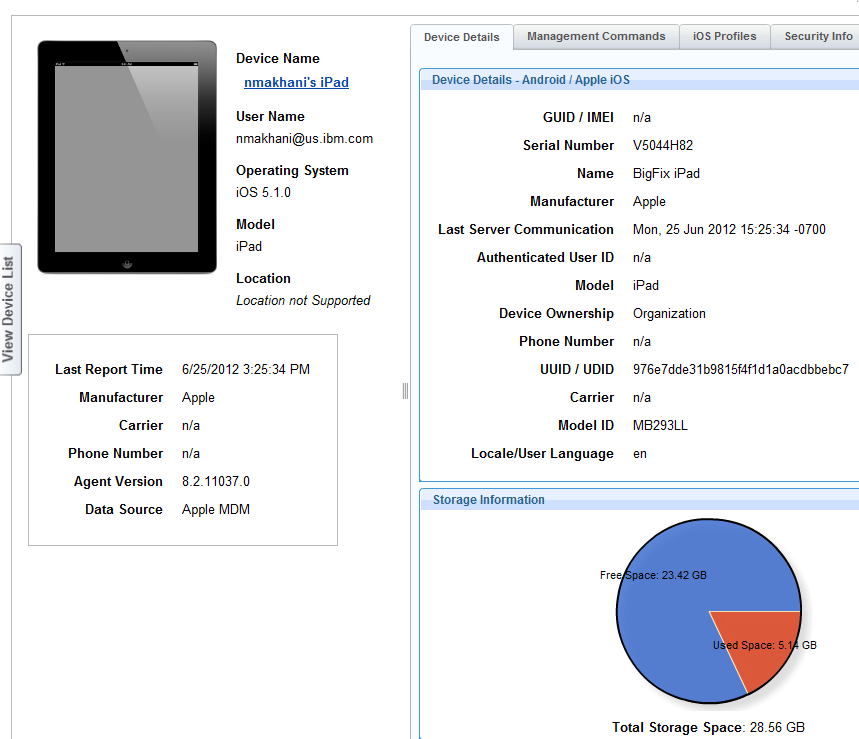 A Single Device View enables administrators and helpdesk