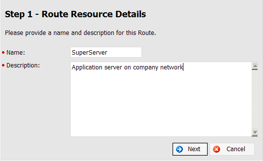 Create New Route 1. For a Server Agent to work a route needs to be created. Select the Create Route action as displayed below: 2. The Create Server Agent wizard will be initiated.