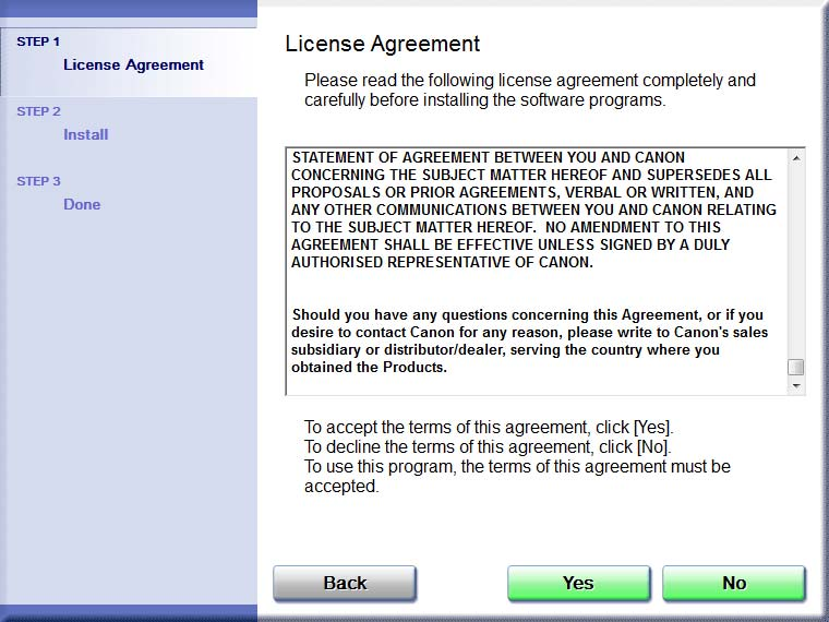 5 Read the contents of the License Agreement, and then