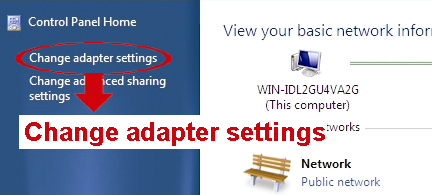 For Windows Vista users: a) Select (start) Control Panel Network and Internet to enter the Network and Sharing Center. Then, click Manage network connections (If you re in Category View ).
