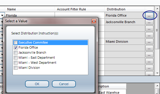 Linking Reporting Tree Units to Distribution Instructions Once a report is generated using Sage 500 Business Intelligence, Distribution Instructions need to be selected manually to set up links
