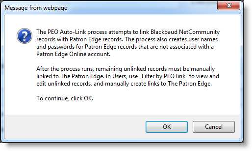 SINGLE SIGN-ON USER AND ADMINISTRATOR WORKFLOW 27 Use PEO Auto-Link to link existing records 1.