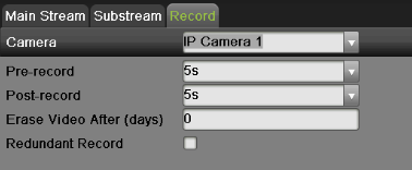 8) Select the max. bit rate mode in the Max. Bitrate Mode dropdown menu. The options for the camera max. bit rate mode include General and Customize (32-16384kbps).