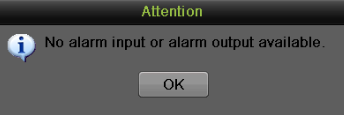 8. Select the Apply button to save the motion detection settings and select OK to return to the previous menu.