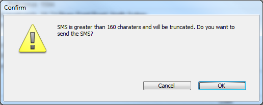 The chosen Container will then be opened in Word for your SMS text to be written: The LEAP SMS toolbar allows the user to choose the phone number for the