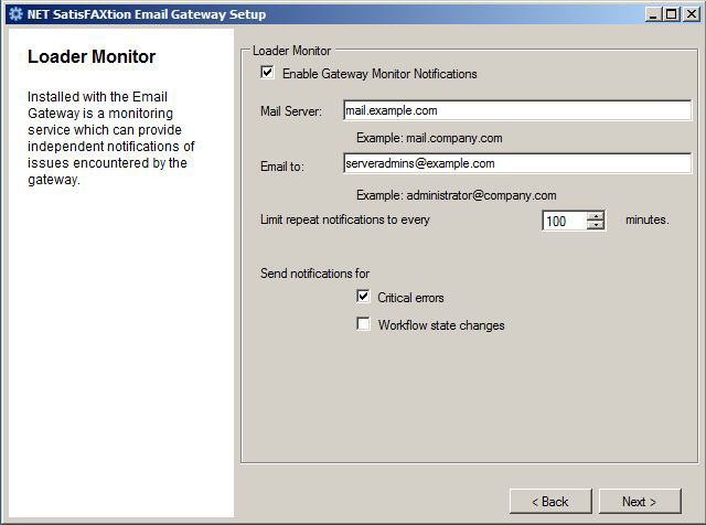 NET SatisFAXtion Email Gateway Installation Guide Page 16 1.
