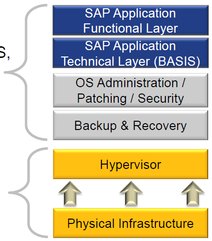 SAP Services on AWS Customer and/or ethods manages the OS, OS patching,