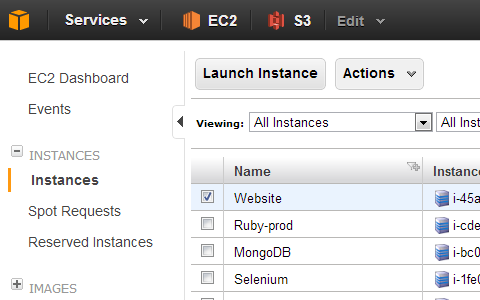 Amazon Web Services AWS Management Console