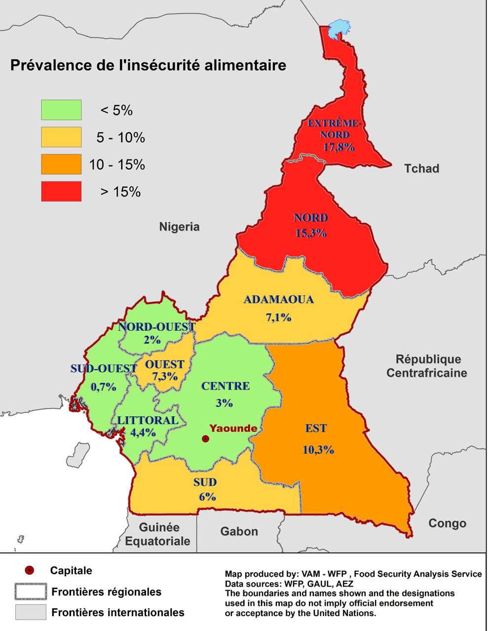 Prevalence of food insecurity Intervention is most urgent in the North The state of food insecurity varies considerably by region with the two northern regions, which are the most populated in the